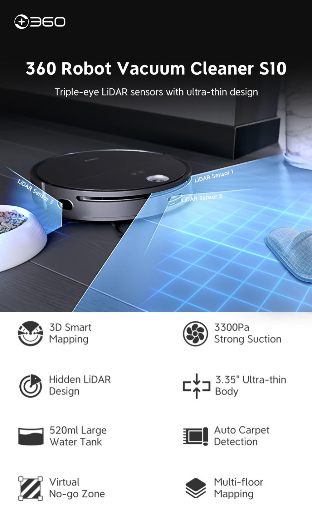 360 s10 robotski usisavač